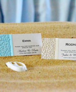 Coastal Chic Wedding Place Cards