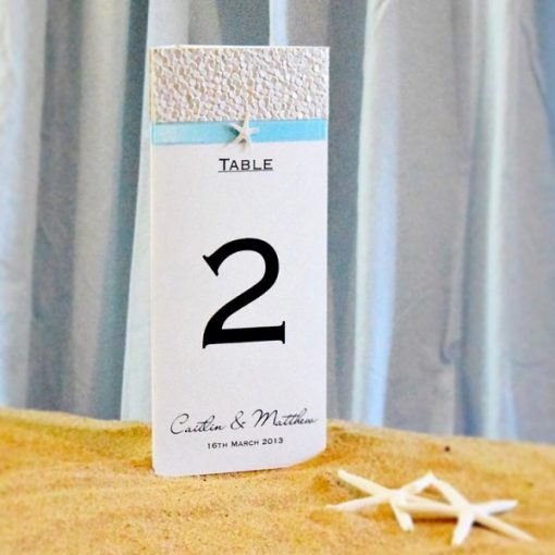 Coastal Chic 3D Wedding Menu