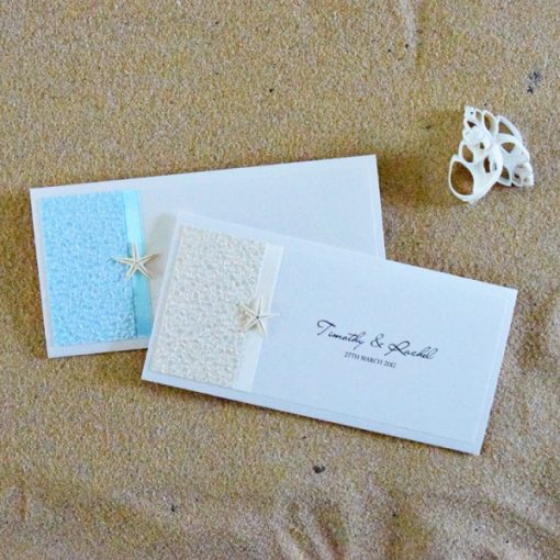 Coastal Chic DL Pouch Wedding Invitation