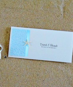 Beach DL Pouch Wedding Invitation by Something Fabulous
