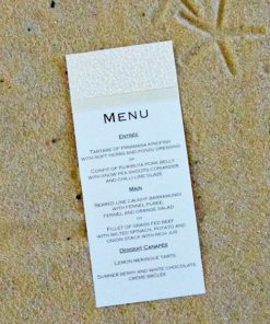 Beach DL Wedding Menu by Something Fabulous