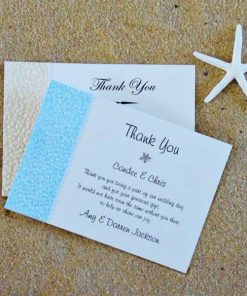 Beach Thank you cards by Something Fabulous