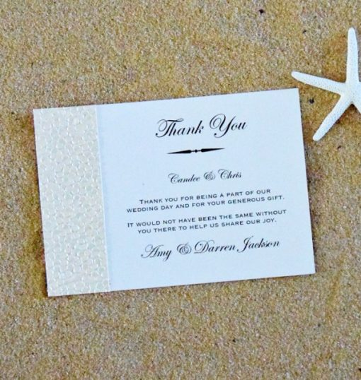 Beach Thank you card by Something Fabulous