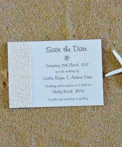Beach Save the Date card by Something Fabulous