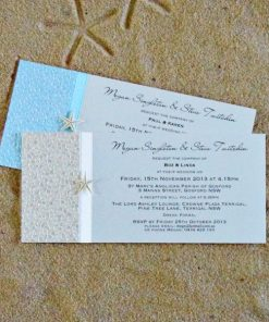 Beach DL Wedding Invitations by Something Fabulous