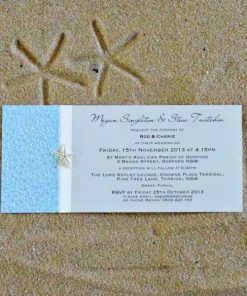 Beach DL Wedding Invitation by Something Fabulous