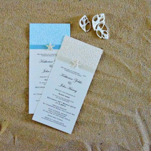 Coastal Chic DL Wedding Invitation