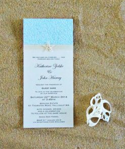 Beach DL Wedding Invitation