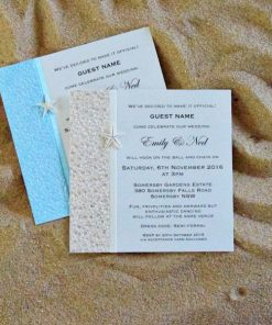 Beach Square Wedding Invitations