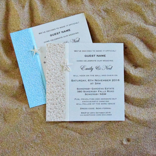 coastal chic square invitation by something fabulous
