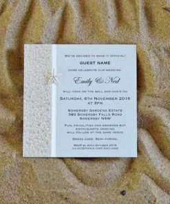 Coastal Chic Square Wedding Invitation