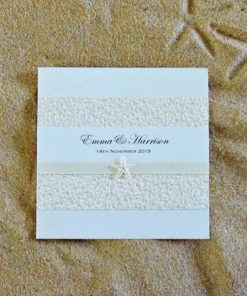 Beach Square Folding Wedding Invitation