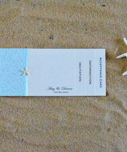Coastal Chic DL Booklet Wedding Invitation