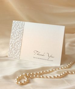 Fine Romance A6 Folding Thank You Card 1
