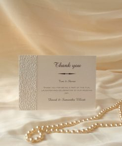 Fine Romance A6 Thank You Card