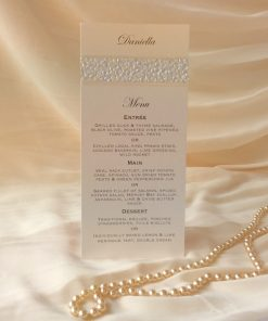 Fine Romance DL Menu Placecard
