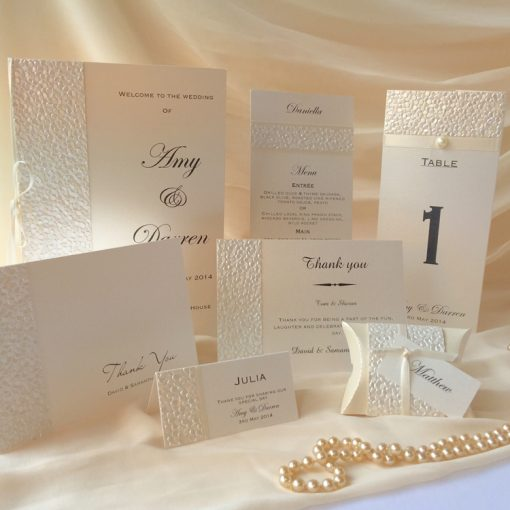 Fine Romance Reception Stationery