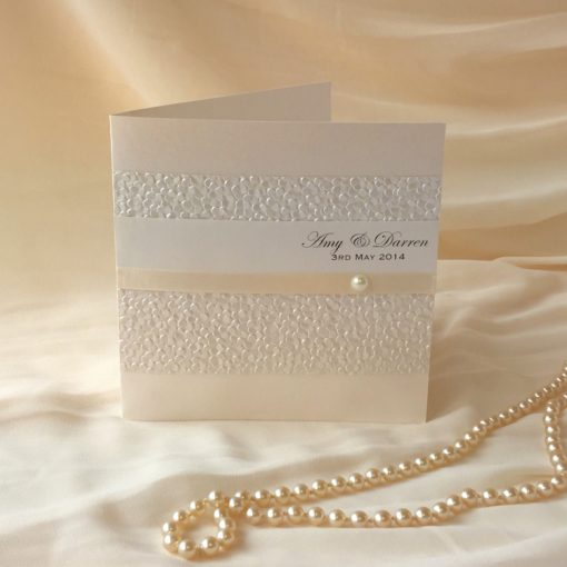 Fine Romance Square Folding Invitation 1