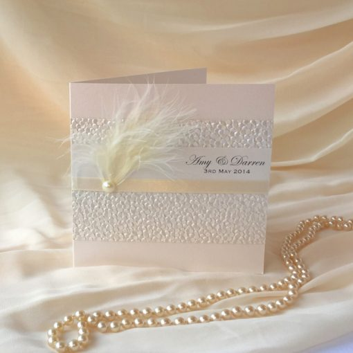 Fine Romance Square Folding Invitation 2