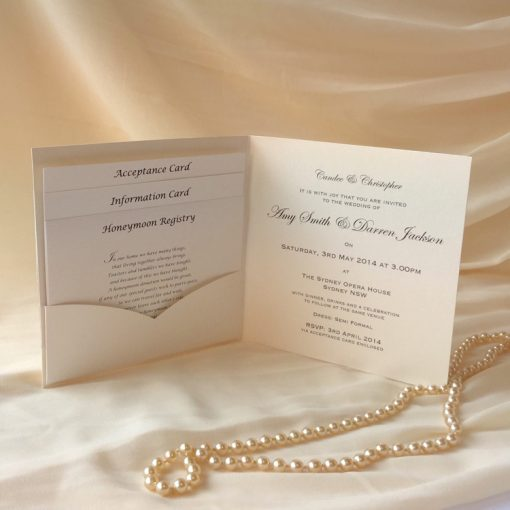 Fine Romance Square Folding Invitation 3
