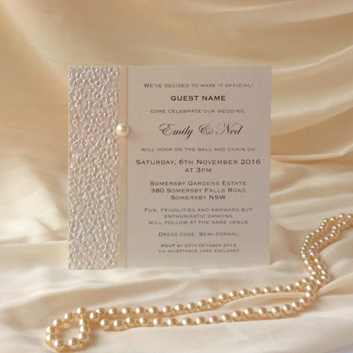 Fine Romance Square Invitation 2