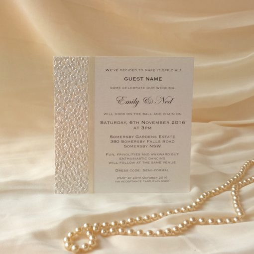 Fine Romance Square Invitation 1