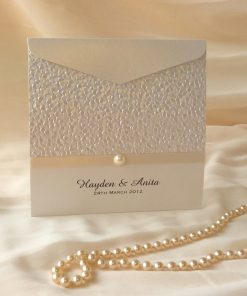 Fine Romance Square Pouch Invitation 1