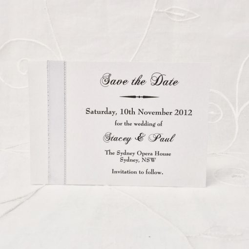 Grand Affair A6 Save the Date card