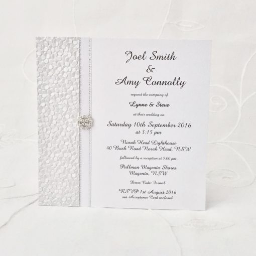 Grand Affair Square Invitation with diamante
