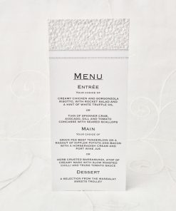 Grand Affair DL Menu/Place Card
