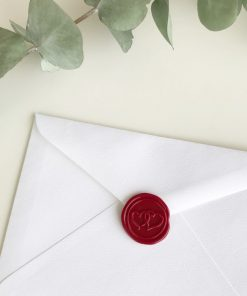 Square envelope with wax seal