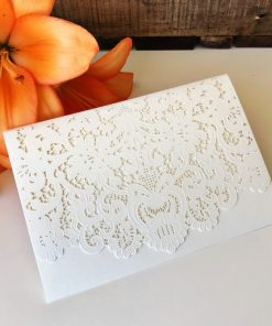 Graceful Pouch Laser Cut - Ivory Shimmer