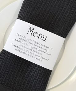 Napkin Wrap Menu Small - Crystal White