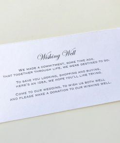 Wishing Well Card - Crystal White