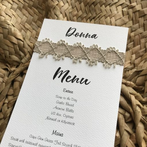 Naturally Yours DL Menu / Place Card