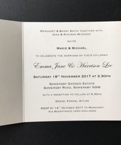 Inside Wedding Invitation