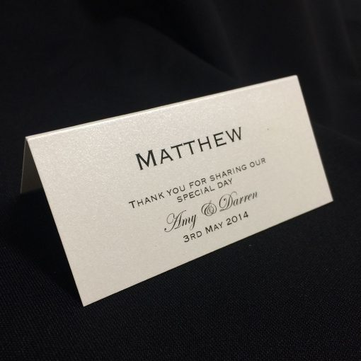 Plain Place Card