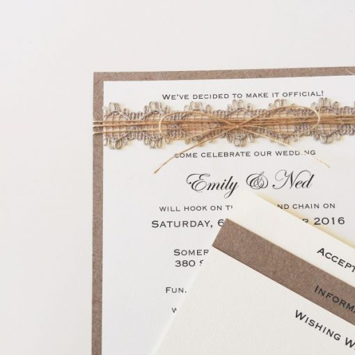 Naturally Yours Square Wedding Invitation