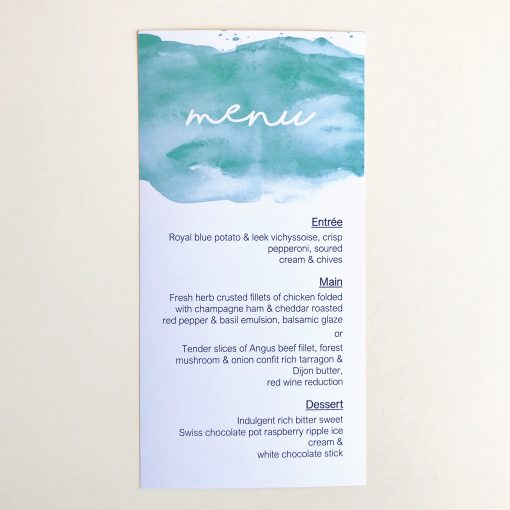 Aquarelle DL Menu