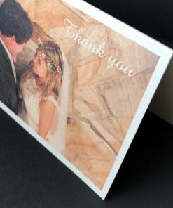 A6 Folding Wedding Invitation or Thank You card - Ivory