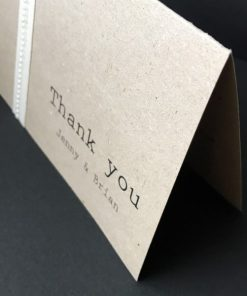 Antique Chic A6 Folding Thank You Card - Natural