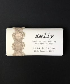 Naturally Yours Chocolate Place Card Bomboniere - Cream