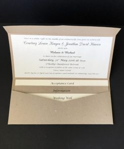 Naturally Yours DL Pouch Invitation - two-tonned