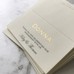 Foiled Place Card - Gold