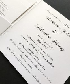 Divine Inspiration Square Folding Invitation