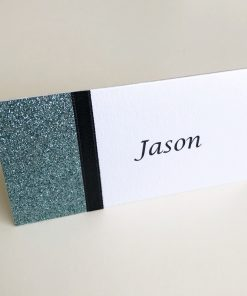 Teal Glitterati Place Card