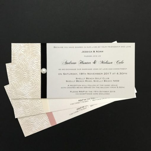 Simply Elegant DL Wedding Invitations