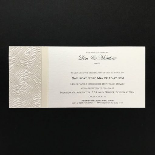 Simply Elegant DL Invitation Ivory on Ivory