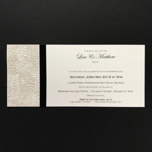 Simply Elegant DL Invitation Ivory and Black