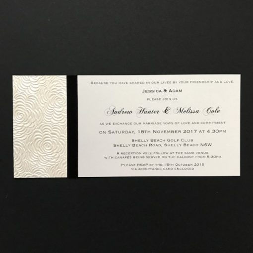 Simply Elegant DL Invitation Lustre and Black